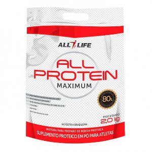 All Protein Maximum - 2000g - Baunilha - All Life Nutry