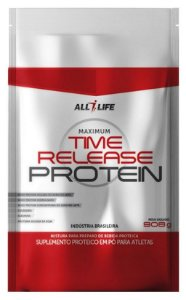 Time Release Protein - 908g - Morango - All Life Nutry