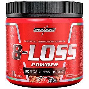 8-LOSS Powder - 200g - Frutas vermelhas - Integralmédica