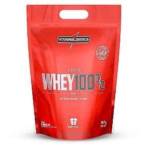 Super Whey 100% Pure - Refil 907g - Morango - Integralmédica