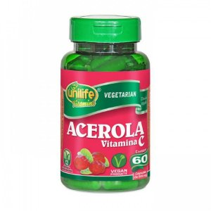 Acerola (Vitamina C) - 60 cápsulas - Unilife Vitamins