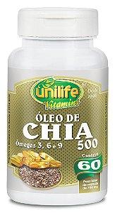 Óleo de Chia - 60 cápsulas - Unilife Vitamins