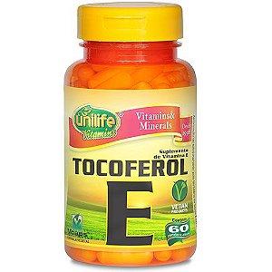 Tocoferol (Vitamina E) - 60 cápsulas - Unilife Vitamins