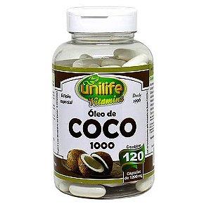 Óleo de Coco 1000 - 120 cápsulas - Unilife Vitamins