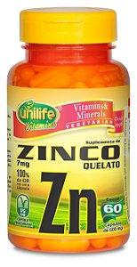 Zinco Quelato Zn - 60 cápsulas - Unilife Vitamins