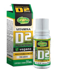 Vitamina D2 em Gotas - 20ml - Menta - Unilife Vitamins