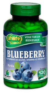Blueberry - 120 cápsulas - Unilife Vitamins