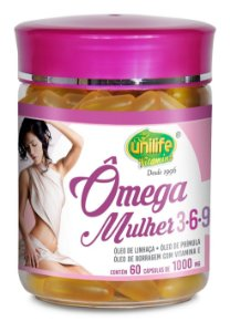 Ômega 3-6-9 Mulher - 60 cápsulas - Unilife Vitamins