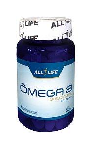 Ômega 3 Óleo de Peixe - 60 cápsulas - All Life Nutry