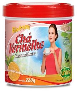 Chá Vermelho Instantâneo - 220g - Tangerina - Unilife Vitamins