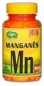 Manganês Mn - 60 cápsulas - Unilife Vitamins