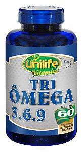 Tri Ômega 3.6.9 - 60 cápsulas - Unilife Vitamins