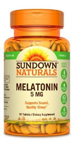 Melatonin 5 mg - 90 tabletes - Sundown Naturals