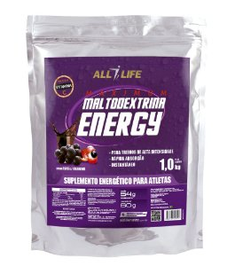 Maltodextrina Energy - 1000g - Açaí com guaraná - All Life Nutry