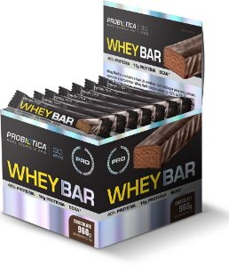 Whey Bar - 24 barras - Chocolate - Probiótica