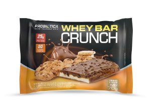 Whey Bar Crunch - 8 barras - Cookies & Cream - Probiótica