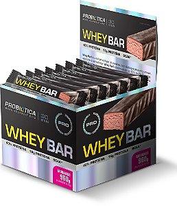 Whey Bar - 24 barras - Morango - Probiótica