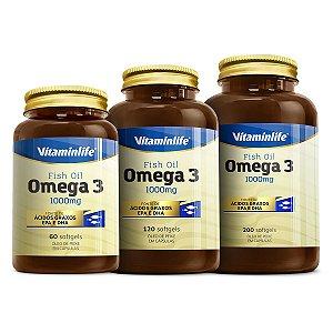 Ômega 3 1000mg - 200 cápsulas - VitaminLife