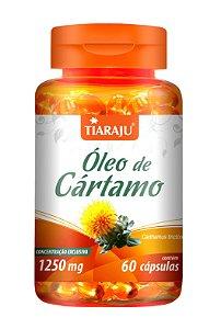 Óleo de Cártamo 1250mg - 60 cápsulas - Tiaraju