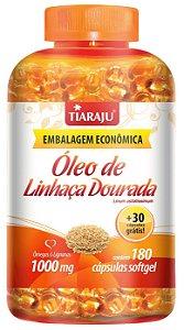 Óleo de Linhaça Dourada 1000mg - 180+30 cápsulas - Tiaraju