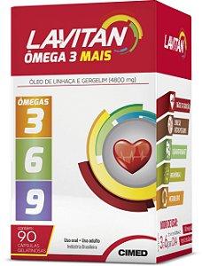 Mais Ômegas 3 6 9 - 90 cápsulas - Lavitan Vitaminas
