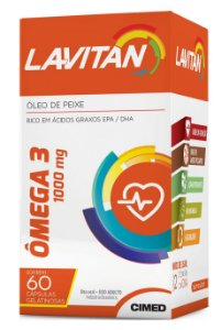 Ômega 3 1000mg - 60 cápsulas - Lavitan Vitaminas
