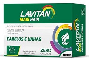 Mais Cabelos e Unhas - 60 cápsulas - Lavitan Vitaminas