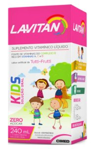 Kids Solução Oral - 240ml - Tutti-Frutti - Lavitan Vitaminas
