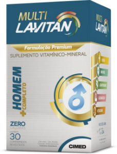 Multi Homem Completo - 30 comprimidos - Lavitan Vitaminas