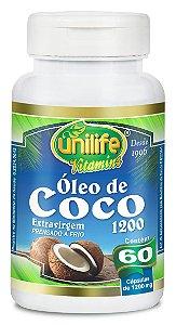 Óleo de Coco Extravirgem 1200 - 60 cápsulas - Unilife Vitamins