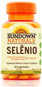 Selênio - 60 comprimidos - Sundown Naturals