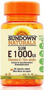 Sun E 1000 UI - 30 cápsulas - Sundown Naturals