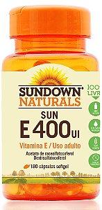 Sun E 400 UI - 30 cápsulas - Sundown Naturals