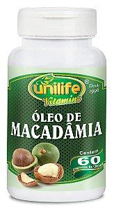 Óleo de Macadâmia - 60 cápsulas - Unilife Vitamins