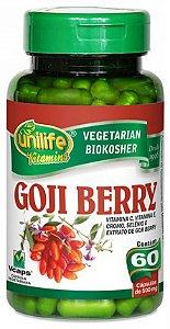 Goji Berry - 60 cápsulas - Unilife Vitamins