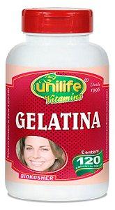 Gelatina - 120 cápsulas - Unilife Vitamins