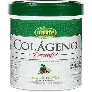 Colágeno Dermfix - 200g - Limão com cranberry - Unilife Vitamins