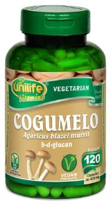 Cogumelo Agaricus Blazei - 120 cápsulas - Unilife Vitamins