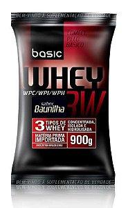 Whey 3W - Refil 900g - Baunilha - Basic Nutrition