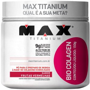 Bio Colagen - 150g - Frutas vermelhas - Max Titanium