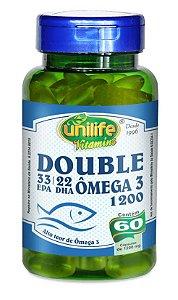 Double Ômega 3 1200 - 60 cápsulas - Unilife Vitamins