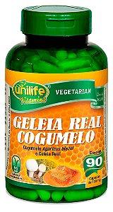 Geleia Real e Cogumelo - 90 cápsulas - Unilife Vitamins