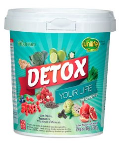 Detox Your Life - 220g - Abacaxi com hortelã - Unilife Vitamins