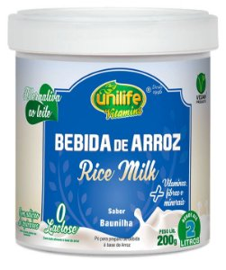 Bebida de Arroz Rice Milk - 200g - Baunilha - Unilife Vitamins