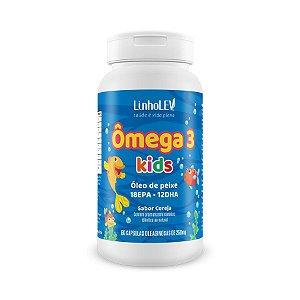 Ômega 3 Kids - 60 cápsulas - Cereja - LinhoLEV
