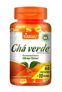 Chá Verde - 60+10 cápsulas - Tiaraju