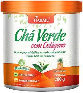 Chá Verde com Colágeno - 200g- Abacaxi - Tiaraju