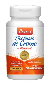 Picolinato de Cromo + Vitamina E - 60 comprimidos - Tiaraju