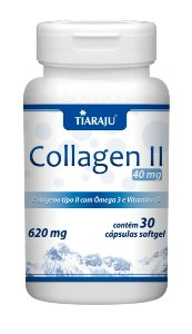 Collagen II 40mg - 30 cápsulas - Tiaraju