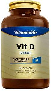 Vit D 2000UI - 30 cápsulas - Vitaminlife
